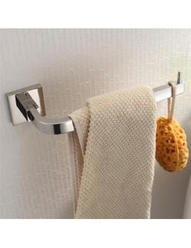 Bright Polishing Square Base Towel Hook Bars Silver Towel Rack 304 Stainless Steel Bathroom Accessories KJ51309