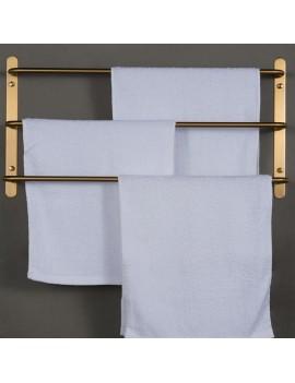 304 Stainless Steel Brushed Gold Multilayer Stagger Three Towel Bars Towel Rack  Bathroom Accessories KJWY003JIN-45CM