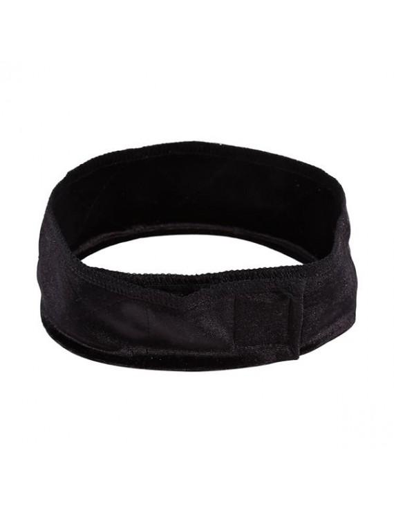 1pc Flexible Velvet Fasten Wig Grip Scarf Hair Band Headband (Black)