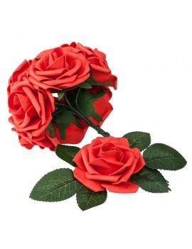 50pcs PE Foam Rose Flower Red