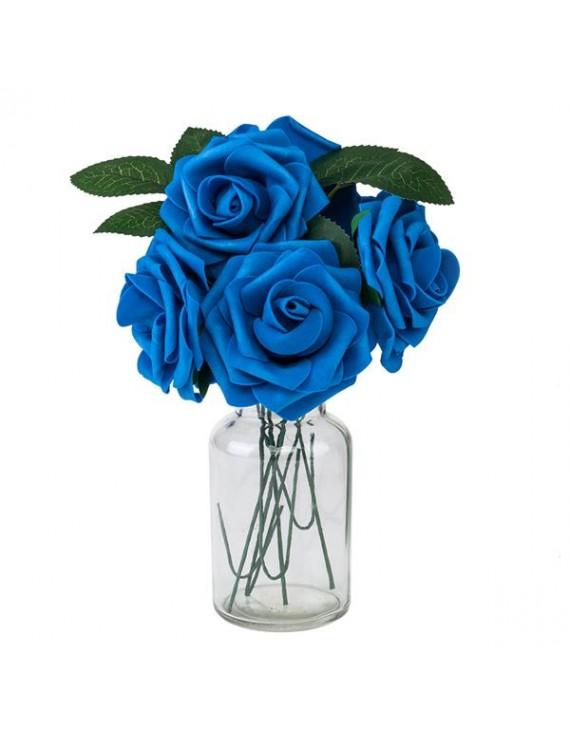 25pcs PE Foam Rose Flower Dark Blue