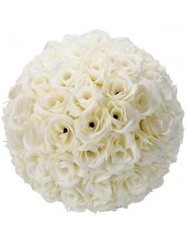 10Pcs 25CM Flower Balls Wedding Decoration Ivory White