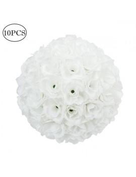 10Pcs 25CM Flower Balls Wedding Decoration White